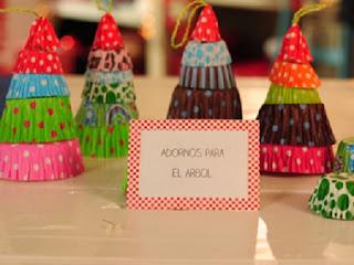 Adornos para Navidad con Pirotines Reciclados