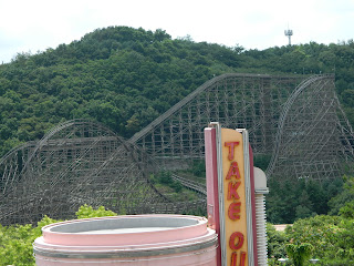 T express roller coaster is the steepest in the world.
