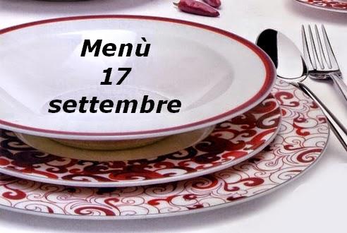 17 settembre menù