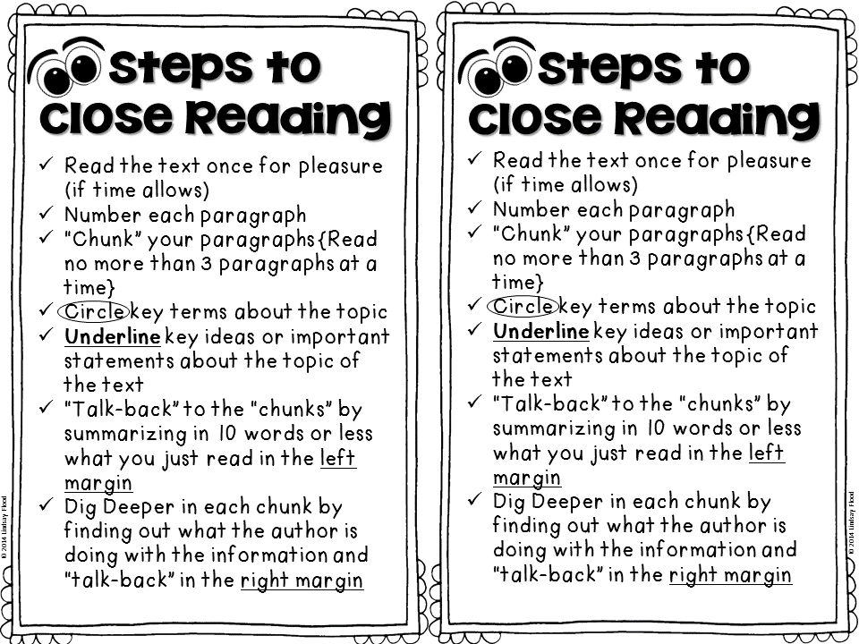 Primary polka dots what 39 s the dill pickle with close for Close reading planning template