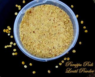 Paruppu Podi - Lentil Powder