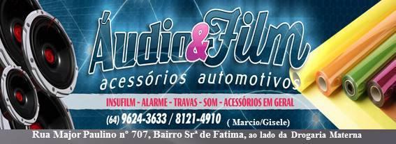 ÁUDIO e FILM acessórios automotivos (64)9624-3633--81214910