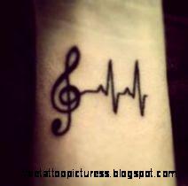 Small Music Tattoos on Pinterest  Music Tattoo Foot Treble Clef