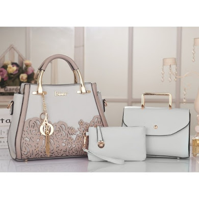 DIOR DESIGNER BAG (3 IN 1 SET) - Grey