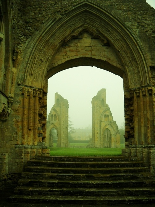 Mystical Glastonbury Abbey Ruin England