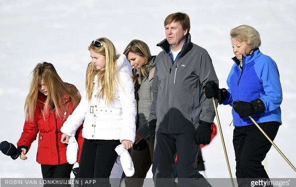 King Willem-Alexander of The Netherlands, Queen Maxima of The Netherlands  and Princess Beatrix of The Netherlands and Princess Alexia of The Netherlands, Princess Catharina-Amalia of The Netherlands