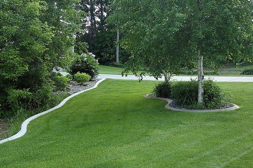 edging design ideas concrete landscape