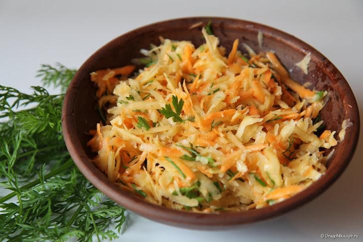 Салат из репы и моркови