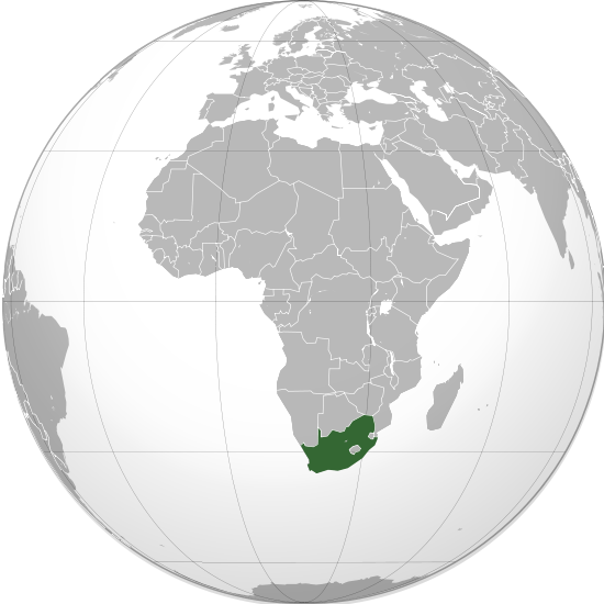 Globo Terráqueo Sudáfrica