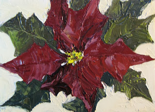 poinsettia in oil