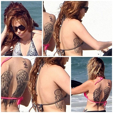Miley Cyrus Tattoos Celebrity Miley Cyrus Tattoos
