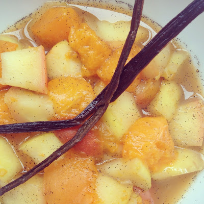 compote pommes abricots vanille