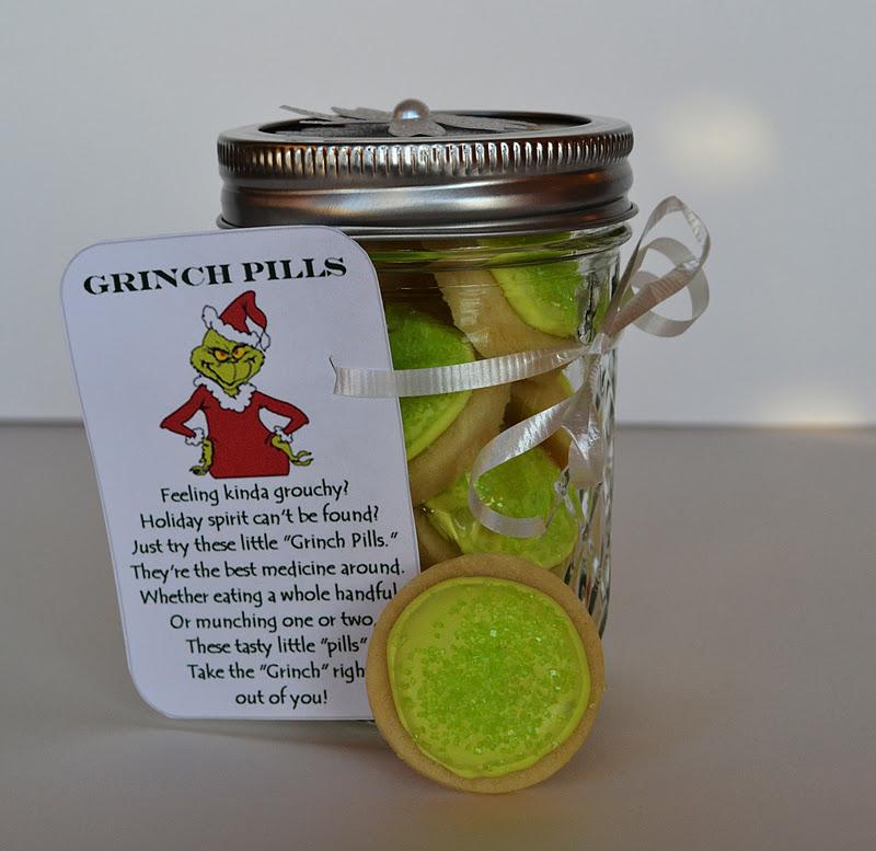 Sweetology Grinch Pills Sugar Cookies In A Jar