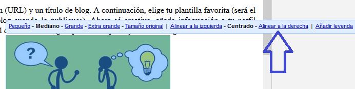 ¿Cómo ubicar una imagen a la derecha del texto de una entrada en mi blog de Blogger?