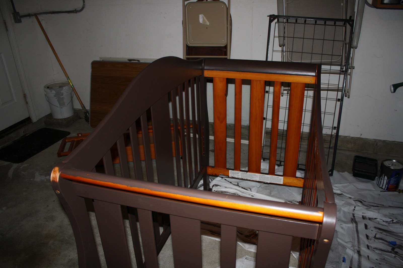 So We Painted Two Or Coats On The Crib With It Assembled This Means That Yes I Had To Sit Inside Get Inner Bars Was Fun