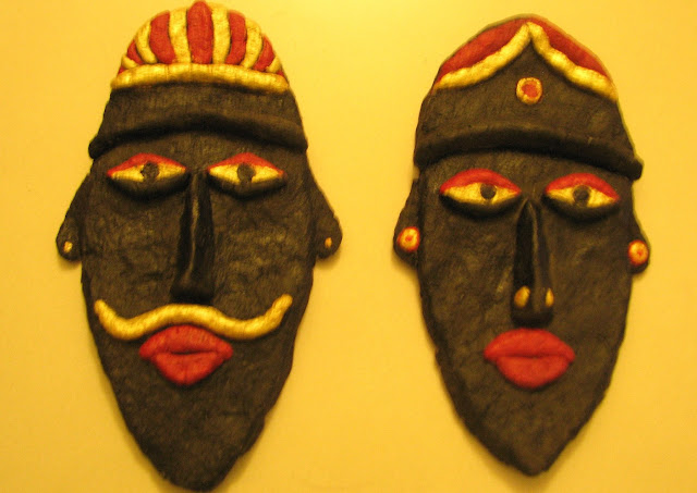 Paper Mache Indian Tribal Mask