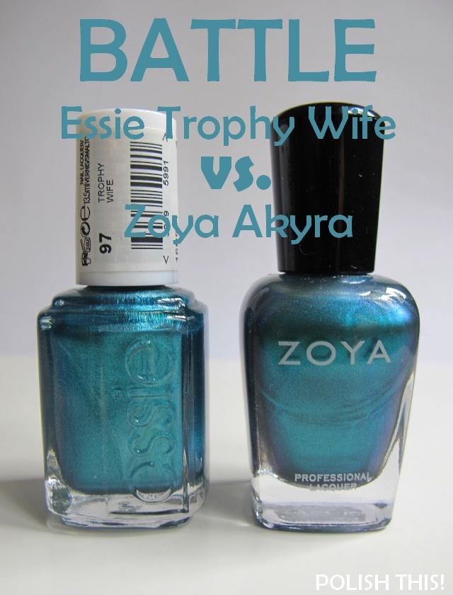 Nail Polish Battle: Essie Trophy Wife vs. Zoya Akyra and China Glaze ...