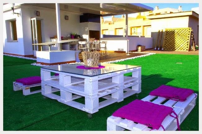Decora hogar 28 fotos de decoraci n ecol gica con muebles - Decoracion de palets ...
