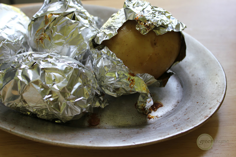 Greenthyme baked potato plate i consider baked potatoes to be sturdy vehicles for toppings were talking butter and salt first and foremost and from there anything goes ccuart Choice Image