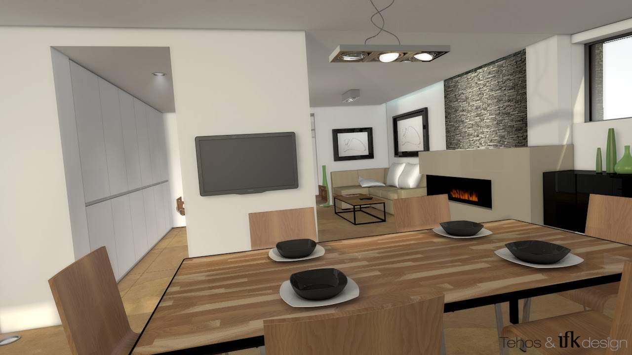 Ifk design graphic designer mod lisation 3d d un salon for Modelisation cuisine 3d