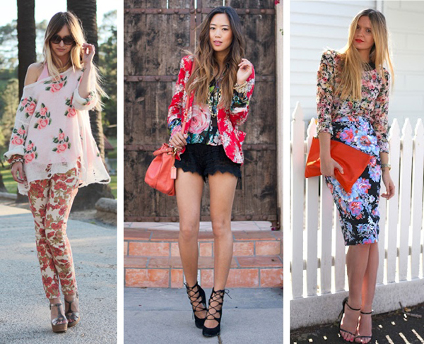How to mix floral prints, floral prints, fashion, mixing prints, spring 2012