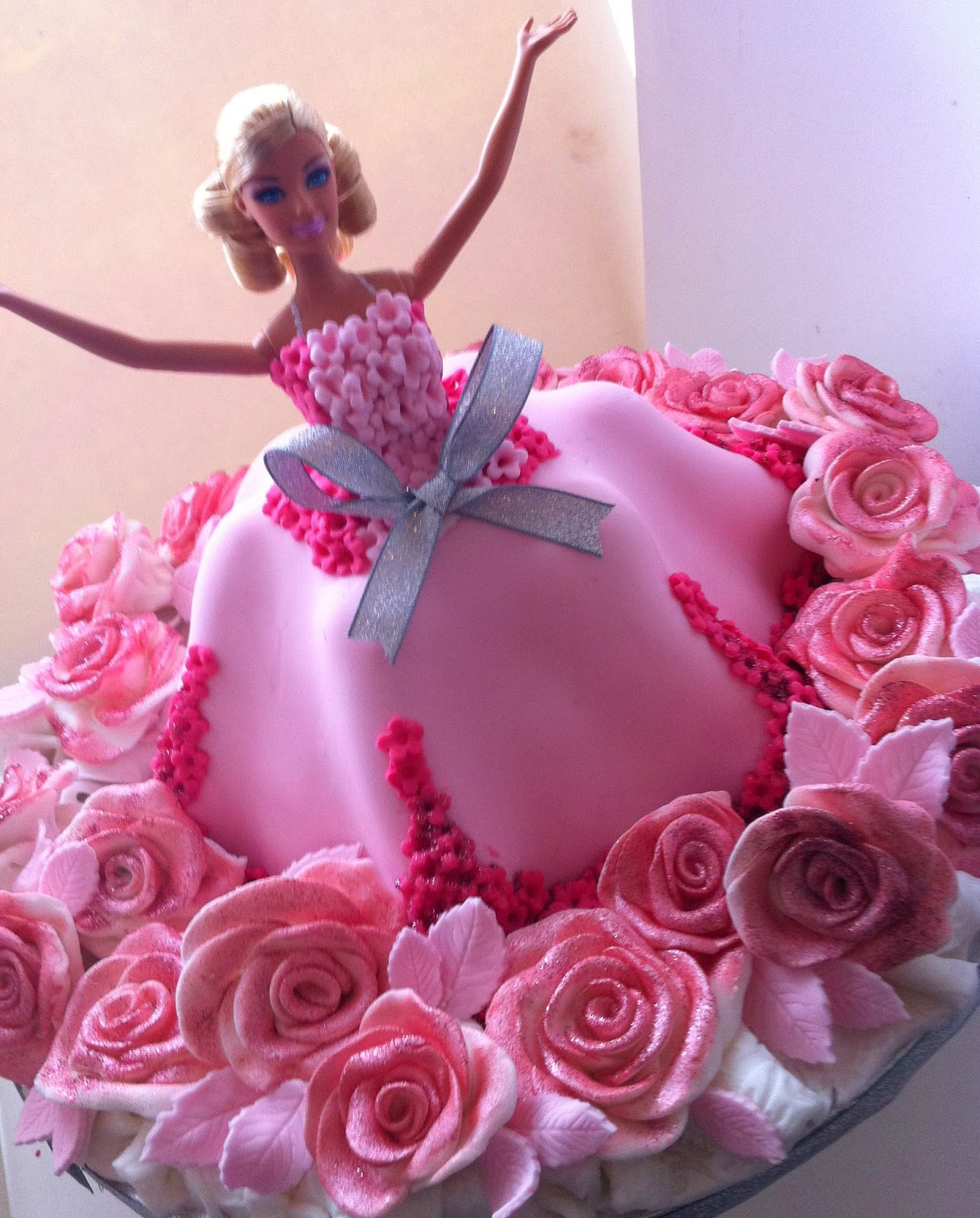 barbie girl cake edible barbie princess victoria sponge cake and ...