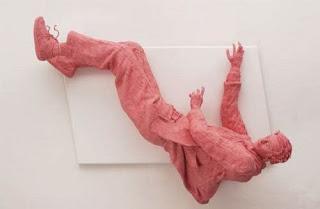 gum sculpture falling man