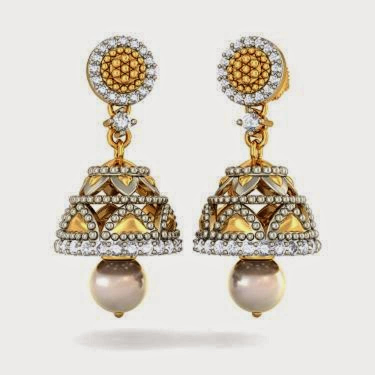 Latest gold jhumka earrings designs ~ beautify themselves with ...
