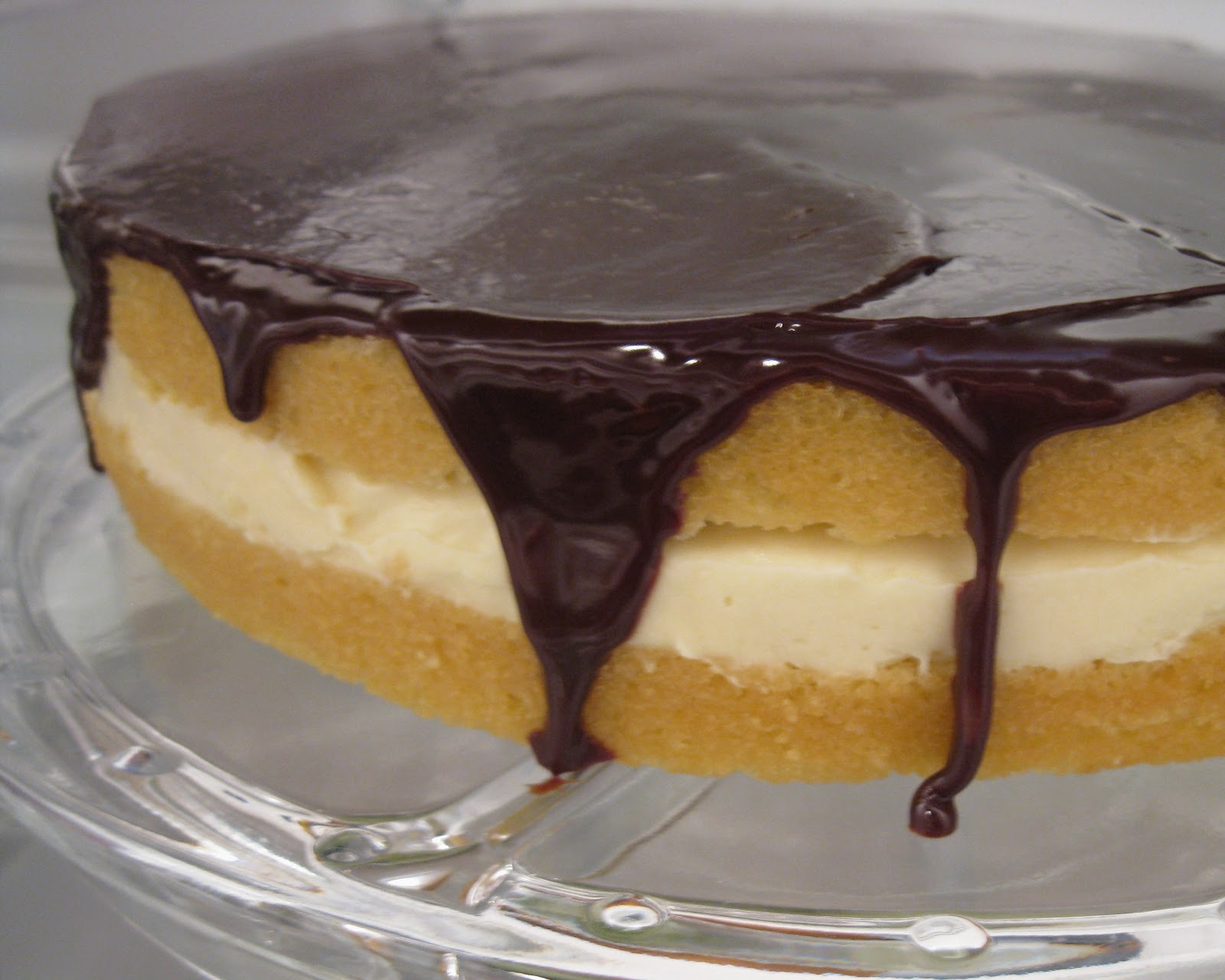 Boston Cream Cake Further Cream Pie No Bake Boston Cream Pie Strata ...