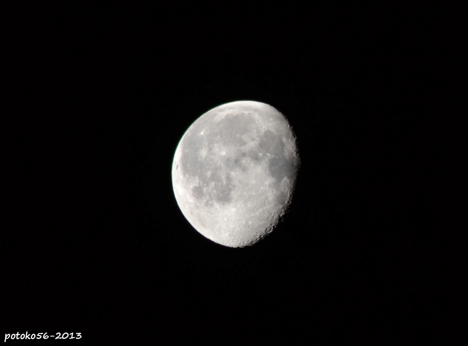 la luna menguante sobre Rota