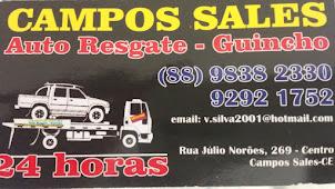 CAMPOS SALES AUTO RESGATE-GUINCHO - 24 HORAS!