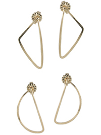 geometric shape stud earrings by Peggy Li
