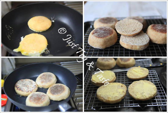 Resep Egg McMuffin dengan Homemade Burger Ayam JTT