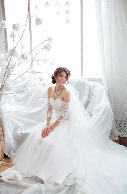 Những mẫu váy cưới mùa thu xu hướng năm 2014 cho cô dâu5