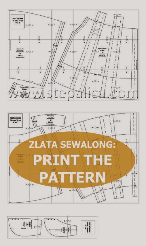 Zlata skirt sewalong: #2 print the pattern