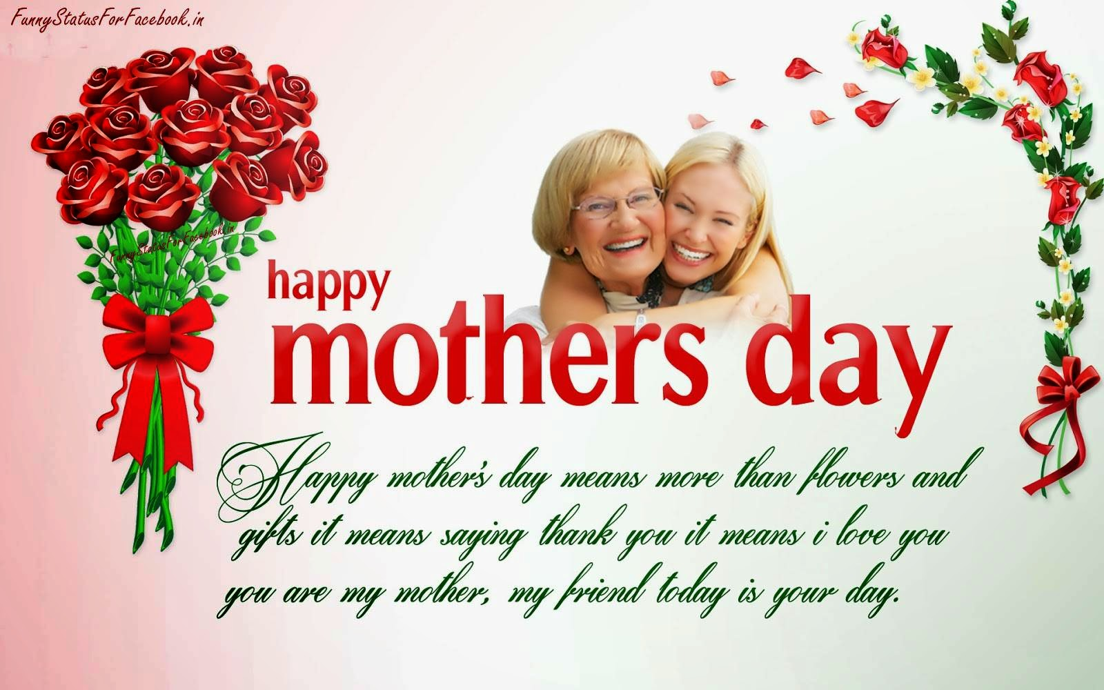 Happy mothers day quotes greeting cards wallpapers with messages happy mothers day means more than flowers and gifts it means saying thank you it means kristyandbryce Gallery