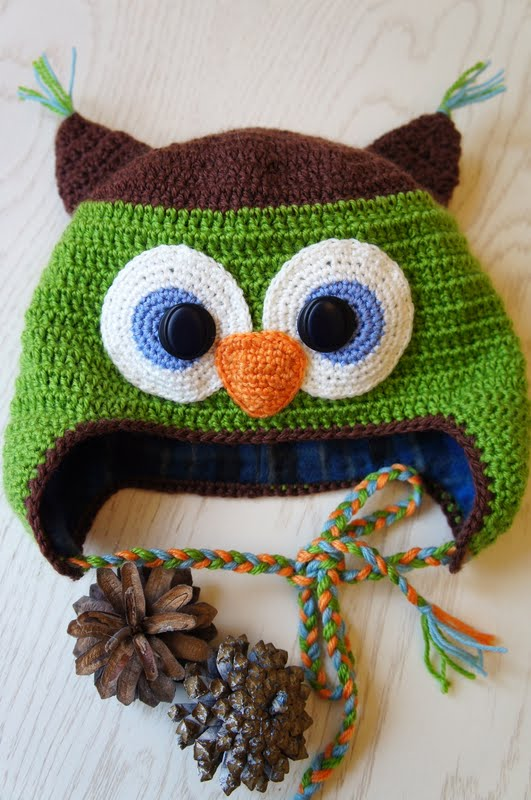Вязание крючком шапочки сова