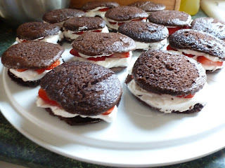 Chocolate Strawberry Shortcake Whoopie Pies