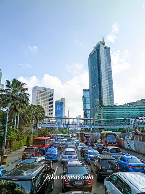 Atascos de tráfico en Yakarta