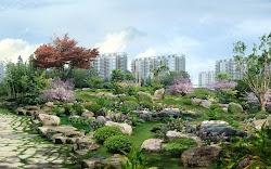 foto digital pemandangan jepang