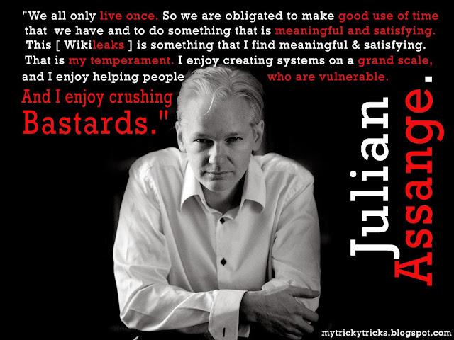 Julian Assange, Wikileaks, julian assange quotes, julian assange enjoy crushing bastards