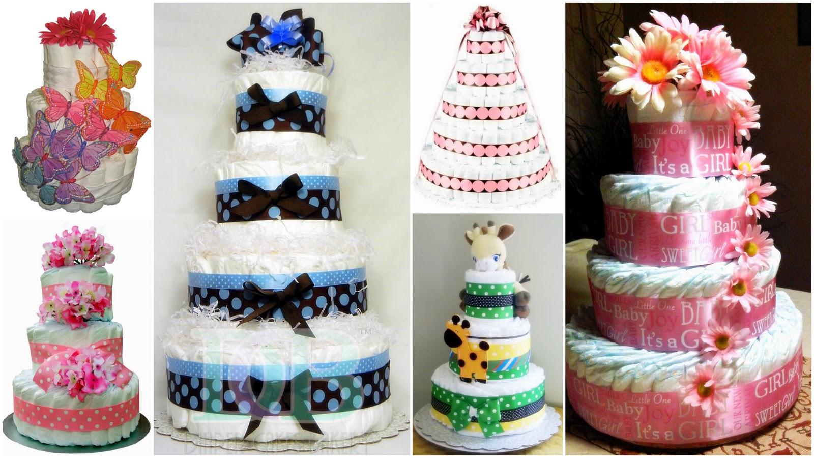 Pinterest Baby Shower Diaper Cakes