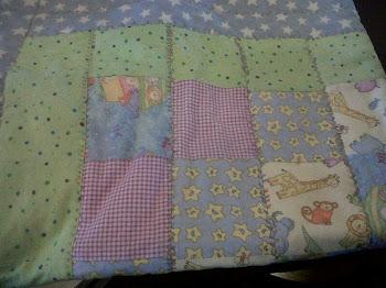 """Crib Size Noahs Ark baby quilt"""""""