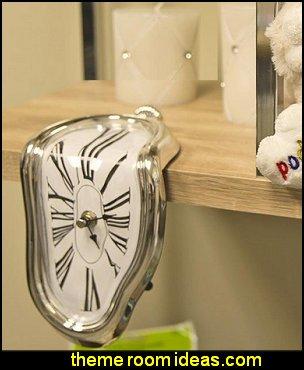 Novelty Melting Time Warp Clock