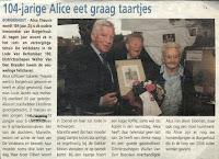 Elisabeth Teunis 1904-2008 was destijds de oudste inwoonster van Borgerhout