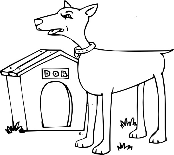 Doverman Free Coloring Pages Doberman Coloring Pages