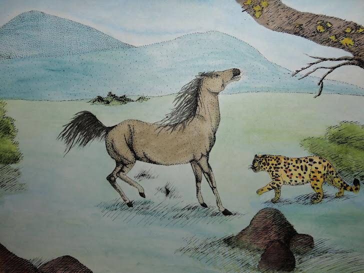 Cavalo e onça
