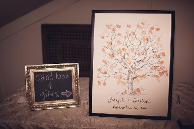 Bleu de Toi handmade fingerprint guestbook tree