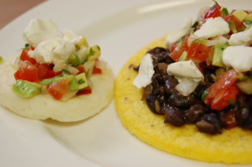 arepa with black bean