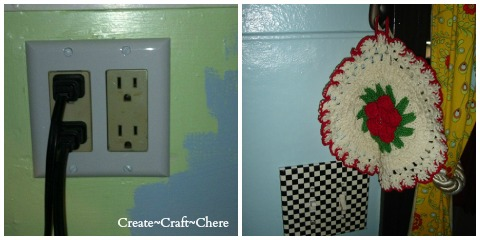 Checker Board Duck Tape works great to cover old switch plates!